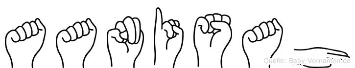 Aanisah in Fingersprache für Gehörlose
