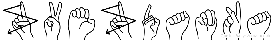 Zvezdanka in Fingersprache für Gehörlose
