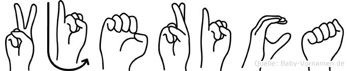 Vjerica im Fingeralphabet der Deutschen Gebärdensprache