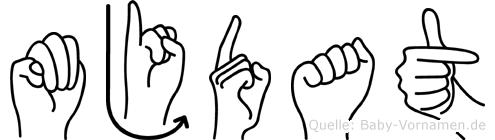Müjdat im Fingeralphabet der Deutschen Gebärdensprache