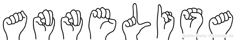 Annelisa im Fingeralphabet der Deutschen Gebärdensprache