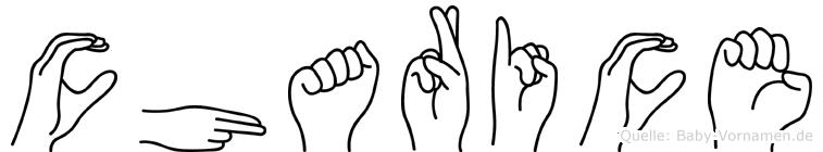 Charice in Fingersprache für Gehörlose
