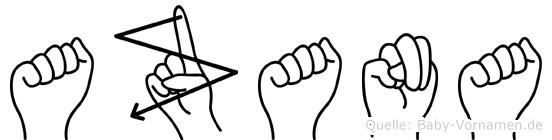 Azana in Fingersprache für Gehörlose