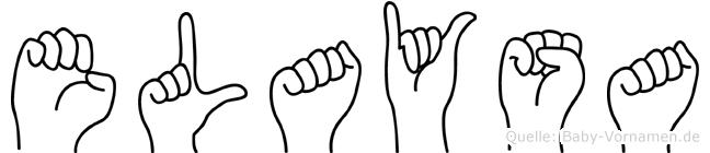 Elaysa in Fingersprache für Gehörlose