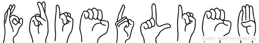 Friedlieb im Fingeralphabet der Deutschen Gebärdensprache