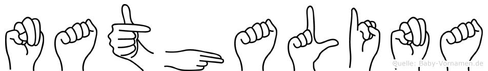 Nathalina im Fingeralphabet der Deutschen Gebärdensprache