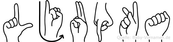 Ljupka in Fingersprache für Gehörlose
