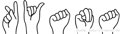 Kyana im Fingeralphabet der Deutschen Gebärdensprache