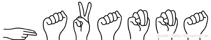 Havanna in Fingersprache für Gehörlose