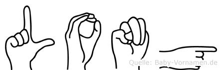 Long in Fingersprache für Gehörlose