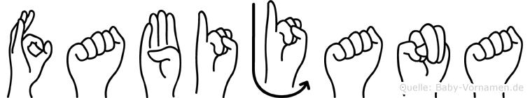 Fabijana in Fingersprache für Gehörlose