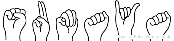 Sumaya in Fingersprache für Gehörlose