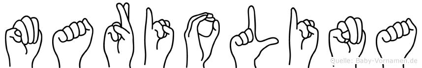 Mariolina in Fingersprache für Gehörlose