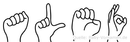 Alef in Fingersprache für Gehörlose