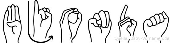 Bjonda in Fingersprache für Gehörlose