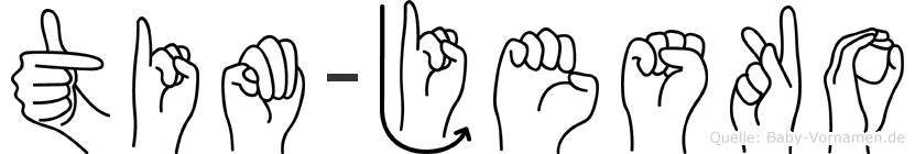 Tim-Jesko im Fingeralphabet der Deutschen Gebärdensprache