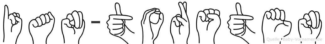 Ian-Torsten im Fingeralphabet der Deutschen Gebärdensprache