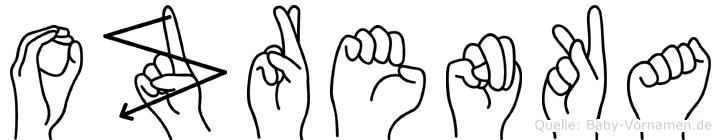 Ozrenka in Fingersprache für Gehörlose