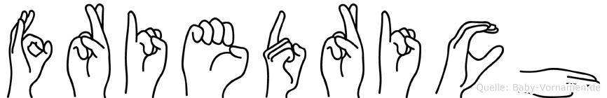 Friedrich im Fingeralphabet der Deutschen Gebärdensprache