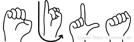 Ejla in Fingersprache für Gehörlose