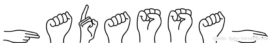 Hadassah in Fingersprache für Gehörlose