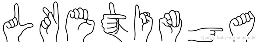 Lketinga im Fingeralphabet der Deutschen Gebärdensprache