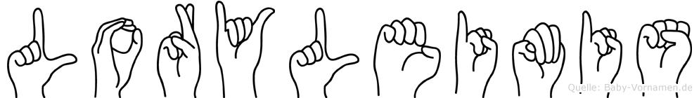 Loryleimis im Fingeralphabet der Deutschen Gebärdensprache
