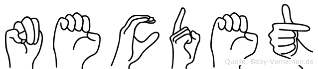 Necdet im Fingeralphabet der Deutschen Gebärdensprache