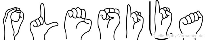 Olesija in Fingersprache für Gehörlose