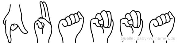 Quanna in Fingersprache für Gehörlose