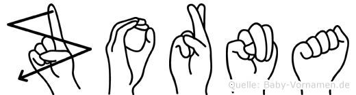 Zorna in Fingersprache für Gehörlose