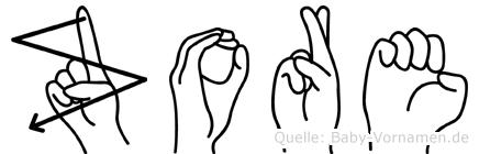 Zore im Fingeralphabet der Deutschen Gebärdensprache