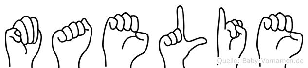 Maelie im Fingeralphabet der Deutschen Gebärdensprache