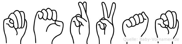 Mervan im Fingeralphabet der Deutschen Gebärdensprache