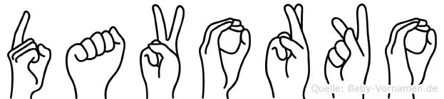 Davorko in Fingersprache für Gehörlose