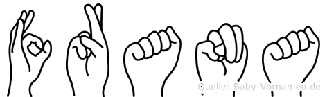 Frana im Fingeralphabet der Deutschen Gebärdensprache