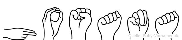 Hosana in Fingersprache für Gehörlose