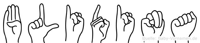 Blidina in Fingersprache für Gehörlose