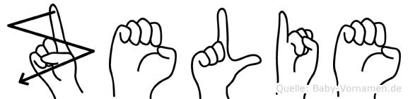 Zelie in Fingersprache für Gehörlose