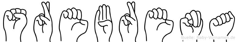Srebrena im Fingeralphabet der Deutschen Gebärdensprache