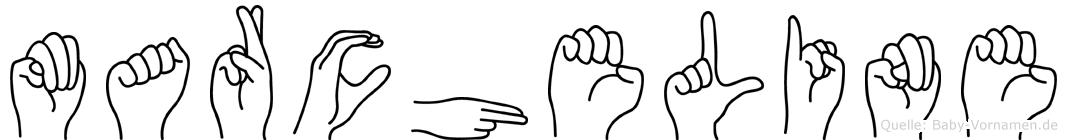Marcheline in Fingersprache für Gehörlose