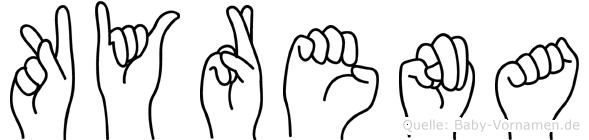 Kyrena in Fingersprache für Gehörlose