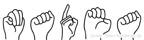 Madea im Fingeralphabet der Deutschen Gebärdensprache