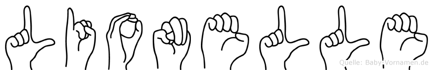 Lionelle im Fingeralphabet der Deutschen Gebärdensprache