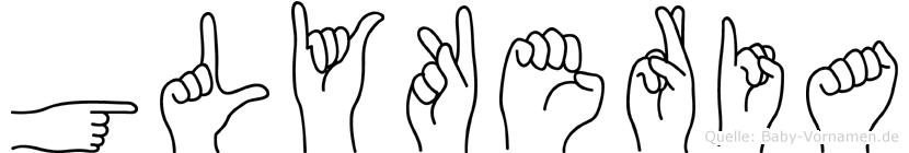 Glykeria im Fingeralphabet der Deutschen Gebärdensprache