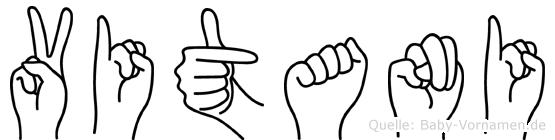 Vitani im Fingeralphabet der Deutschen Gebärdensprache