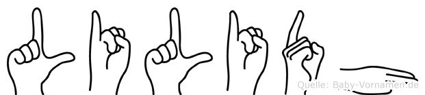 Lilidh im Fingeralphabet der Deutschen Gebärdensprache