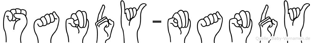 Sandy-Mandy im Fingeralphabet der Deutschen Gebärdensprache