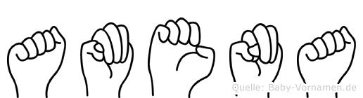 Amena im Fingeralphabet der Deutschen Gebärdensprache