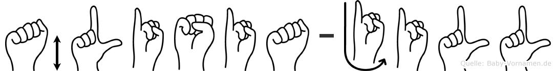 Älisia-Jill im Fingeralphabet der Deutschen Gebärdensprache